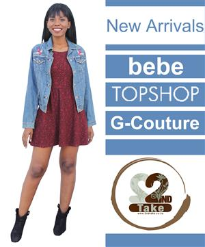 New stock has arrived! Our shelves are filled with the most exclusive fashion like Topshop and Bebe