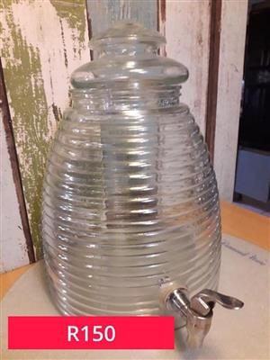 Glass water dispenser for sale.