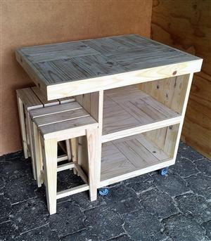 Kitchen Island Farmhouse series 970 combo - Raw