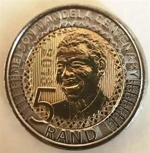 280 x 2018 Mandela Centenary R5 Brilliant Uncirculated coins