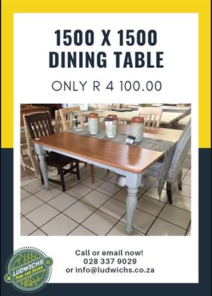 1500 x 1500 Dining Table