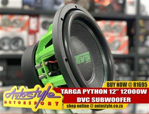 Targa 12inch 12000w python Dvc subwoofer R1695  Autostyle Motorsport now offers FITMENT while you wait.