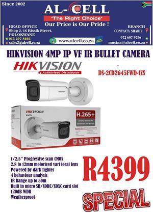 Hikvision 4MP IP VF IR Bullet 2.8-12 MM Camera