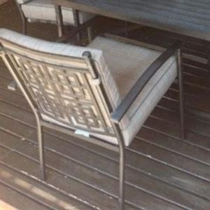 Aluminium patio set