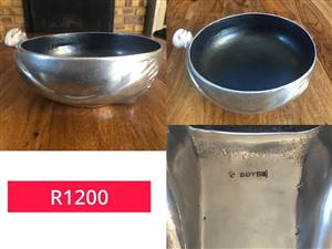 Silver bowls for sale.