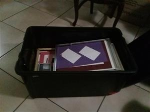 Box full of various size frames