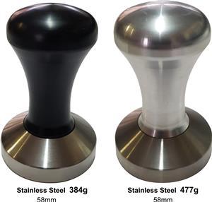 Stainless Tampers Saturn Black or Aluminium Handle (58mm)