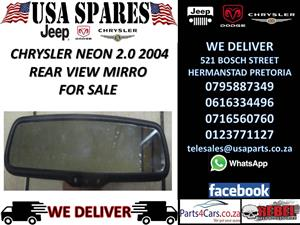 CHRYSLER NEON 2.0 2004 REAR VIEW MIRROR FOR SALE