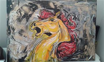 MYSTICAL HORSE PAINTING BY PHILLIP MANAKA