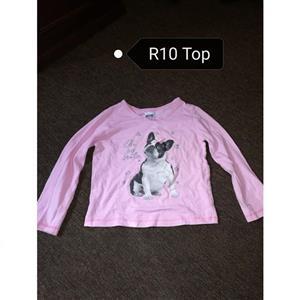 Pink long sleeve bulldog top
