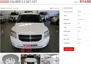 2012 Dodge Caliber 2.0 SXT CVT