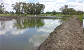 Plot geskik vir vis boerdery of om te ontwikkel in visvang oord