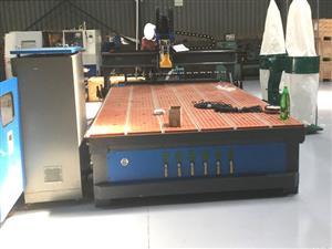 R-2040Z6KD/120L EasyRoute 380V Raised Z-600 2050x4000mm PVC Clampable Vacuum CNC Router