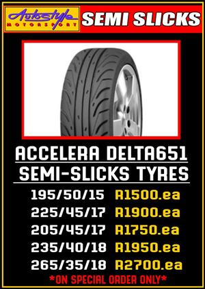 ACCELERA DELTA 651 SEMI SLICKS