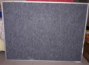 Notice Board, Felt with Aluminium frame