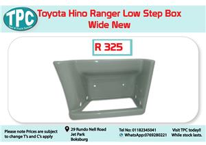 Toyota Hino Ranger Low Step Box Wide New for Sale at TPC