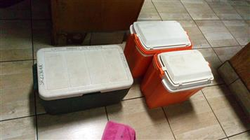 2 Normal and 1 large cooler box for sale