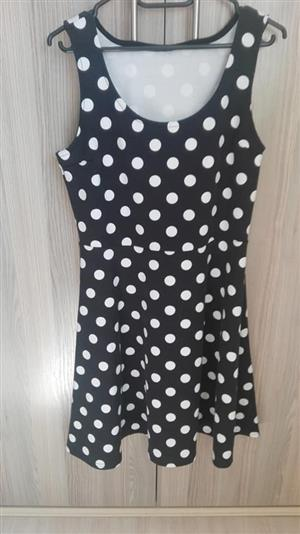 Black and white polka dot dress for sale