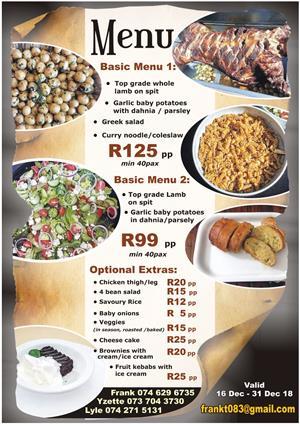 Spitbraai catering & hiring