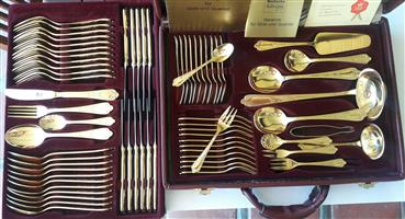 24 ct Gold Plated Cutlery
