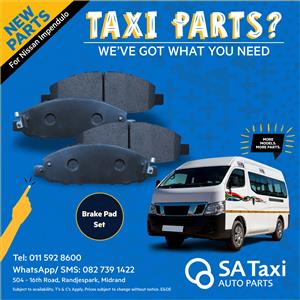 New Brake Pad Set suitable for Nissan NV350 Impendulo