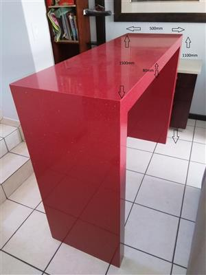 Modern and Stylish Bar Counter -Starlight Ruby (Red)