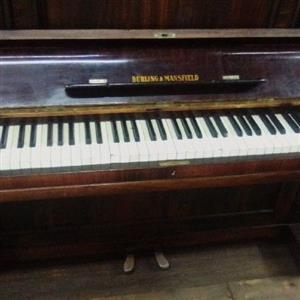 Vintage Burling & Mansfield upright piano