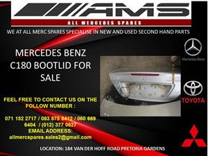 MERCEDES BENZ C180 BOOTLID FOR SALE