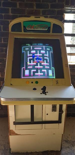 Pacman game machine for sale.