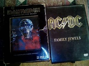 Iron maden  and acdc music dvds