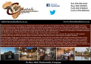 Cheetah Safaris Game Lodge
