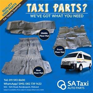 Quality USED Floor Mats suitable for Toyota Quantum - SA Taxi Auto Parts quality taxi spares