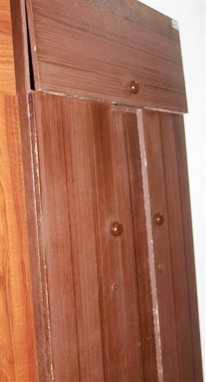 S034626B Brown 2 door wardrobe #Rosettenvillepawnshop