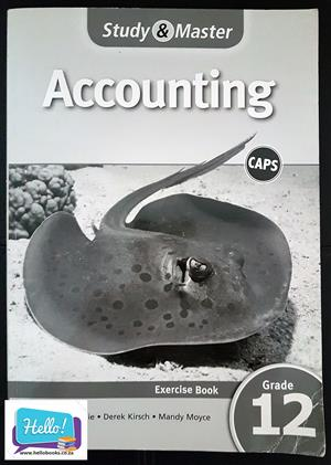 Study & Master Accounting Grade 12 Exercise Book, used for sale  Johannesburg - Randburg