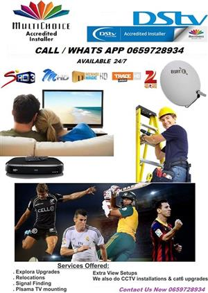 DSTV Installers Same day and After hours Services. DSTV Installation & Signal Repairs