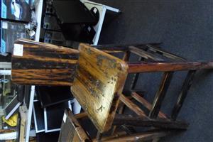 6 Wooden Sleeper Bar Chairs