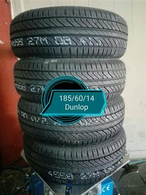 185/60/15 Dunlop New Tyres for Sale