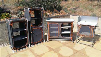 4 x Basecamp shelve cupboard units