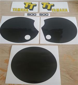 1979 Yamaha TT500 motorcycle decals stickers vinyl cut graphics kits. for sale  Johannesburg South
