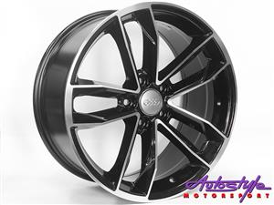 18 inch CT1208 5-112 Matt Black Wheels - 5 112 pcd - 42 offset - sold as a set of 4 Suitable VW, Merc and Audi