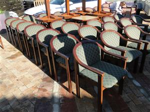 Beautiful Dark wood Reception Room/Dinning Room/Restaurant chairs for-sale at R400 each