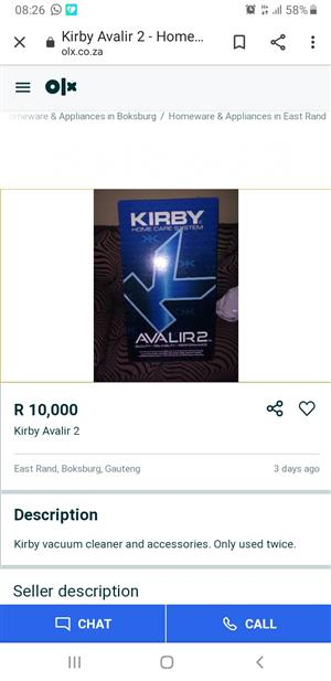 Kirby Avalir 2 for sale