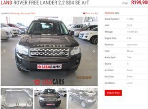 2012 Land Rover Freelander 2 SD4 LE