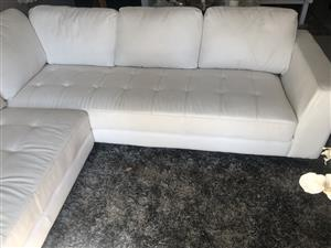 White @home L-Shape Couch for Sale