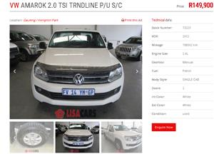 2012 VW Amarok 2.0TSI Trendline