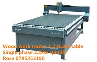 Single phase cnc wood work router
