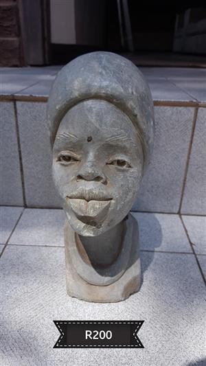 Female head sculpture for sale