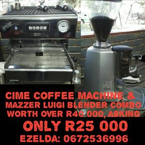 Coffee machine and grinder combo