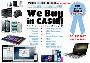 We buy most smart phones, tablets, and laptops in any condition