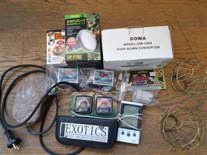 box of reptile items